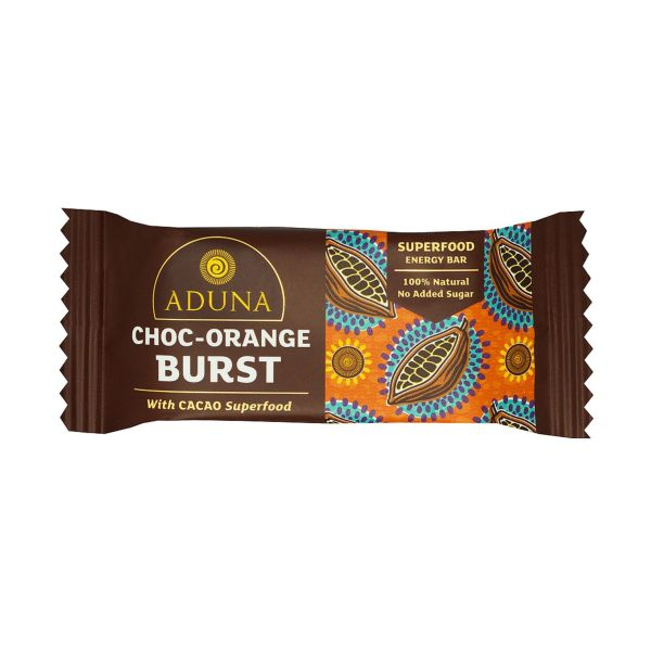 Aduna Choc Orange Burst With Cacao Superfood Energy Bar 40G x 16
