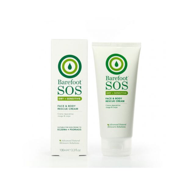Barefoot Sos Dry + Sensitive Face & Body Rescue Cream 100ml 100ml
