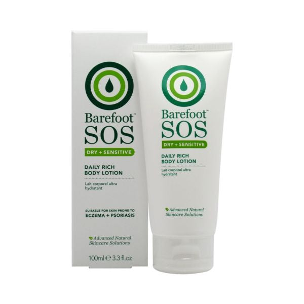 Barefoot Sos Dry + Sensitive Daily Rich Body Lotion 100ml