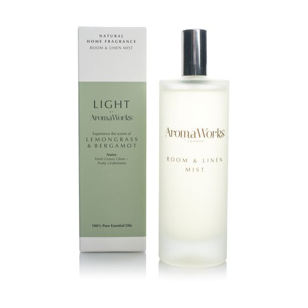 Aromaworks Light by AW Room Mist - Lemongrass & Bergamot