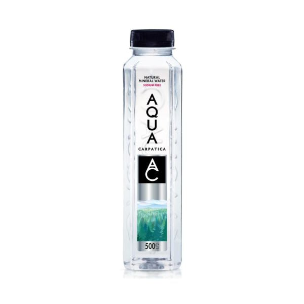 Aqua Carpatica Low Sodium Mineral Water - Still (PET Bottle) 500ml 12 Pack