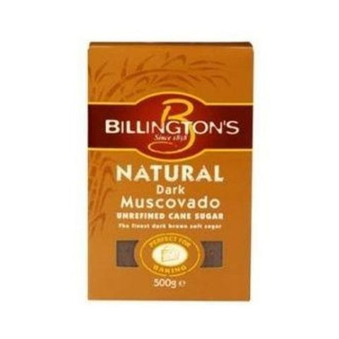 Billingtons Sugar Raw Muscovado - Dark Sugar 500g