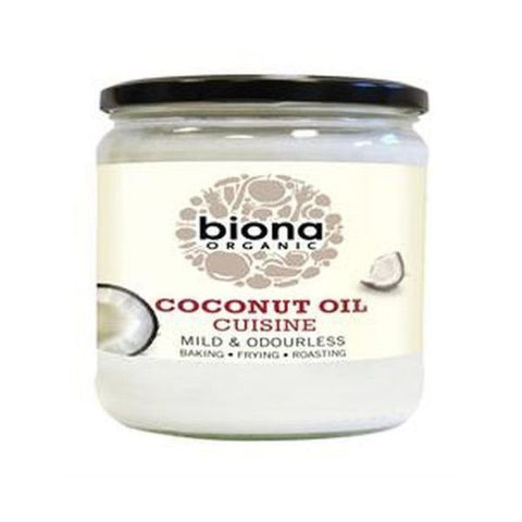 Biona Organic Coconut Oil Cuisine - Mild & Odourless 610ml