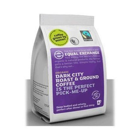 Equal Exchange Organic & Fairtrade Dark City Roast And Ground Coffee 227g