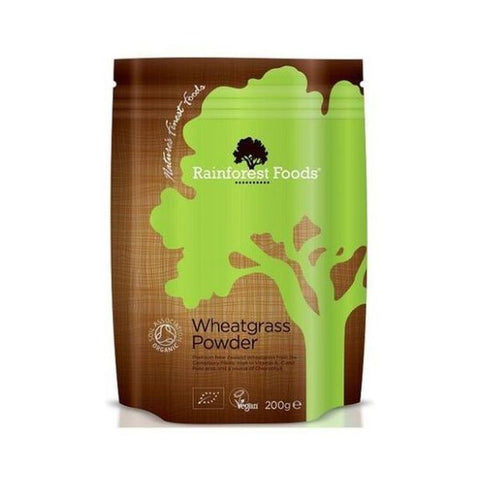 Rainforest Foods Organic New Zealand Wheatgrass Powder 200g