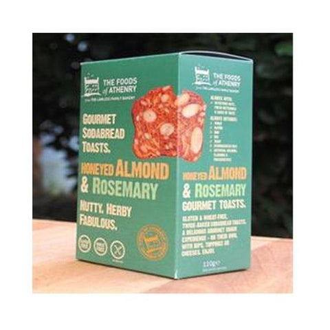 Foods Of Athenry Honeyed Almond & Rosemary Crackers 110g
