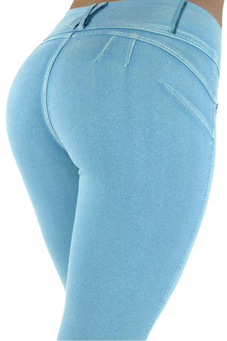 Magic Boost Slimmer Blue Shaping Brazilian Skinny Jeans