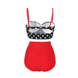 Sultry High Waisted Two Piece Bathing Suit Straps