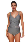Bewitching Padded Across Mesh Swim Cover