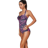 Exotic Large Padded Halter Monokini Swimsuit Front Keyhole