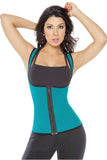 Reversible Zipper Green Shapewear Vest