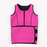 Fat Burn Slimming Neoprene Waist Trainer Vest (Black or Pink)