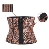 Extra Firm Control Waist Cincher Girdle Leopard 5 Zippers