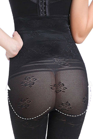 Slimming Black High Waist Plus Size Mesh Butt Lift