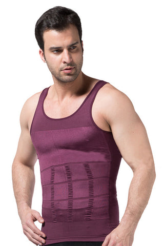 Red Firm Chest and Belly Shaper Tank