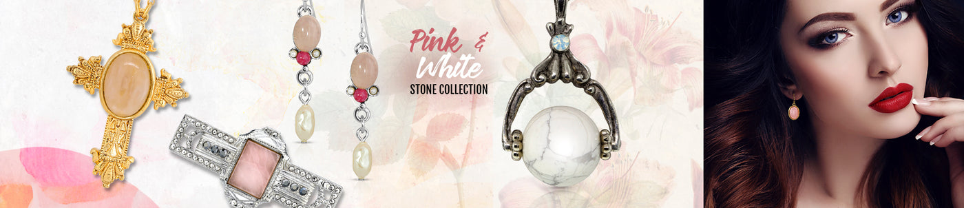 Pink & White Stone Collection