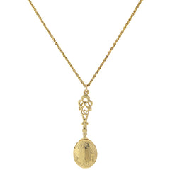 14K GOLD DIPPED PENDANT LOCKET NECKLACE