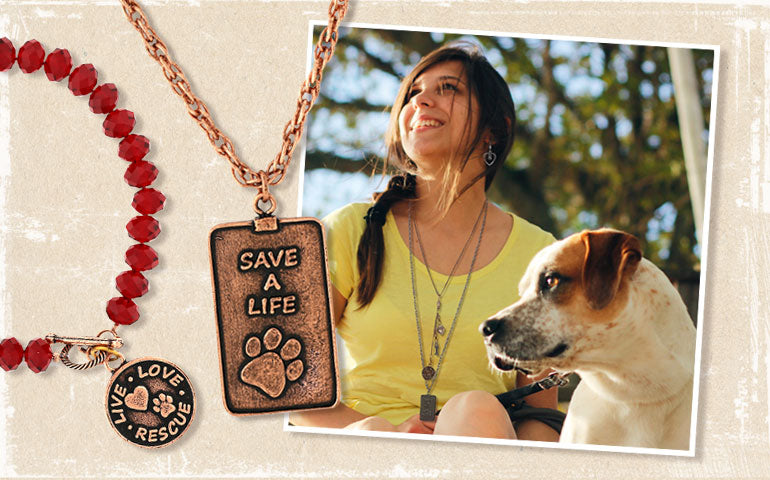 79e897975948 Live Love Rescue. Show your love and support to our favorite animals with  these edgy and stylish vast array of accessories. 1928 Jewelry will donate  20% of ...