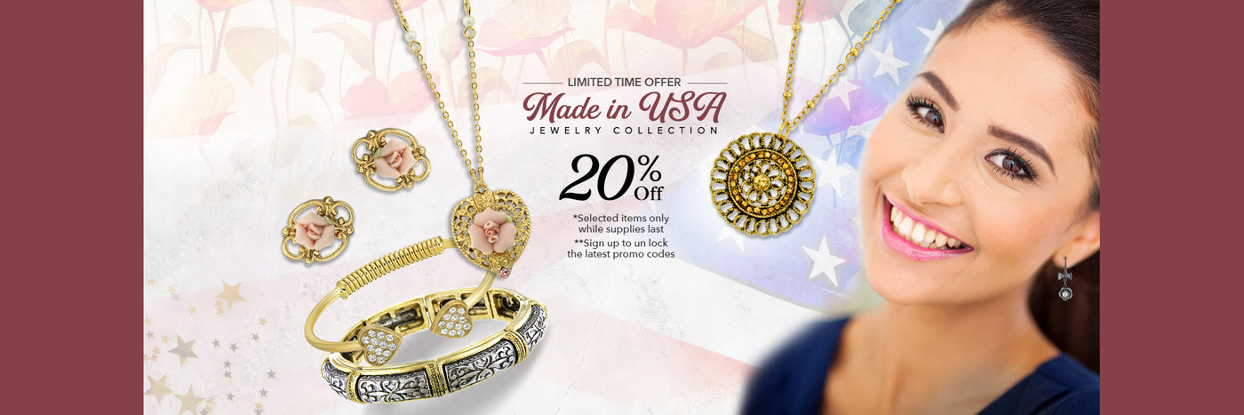 MADE IN USA JEWELRY sale