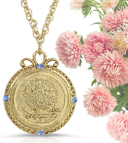 flower of the month necklace september