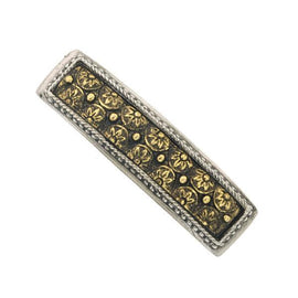 1928 Jewelry - Silver-Tone  and Gold-Tone Floral Barrette