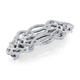 Silver-Tone Hair Barrette