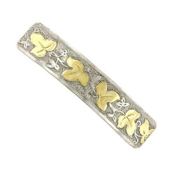 Silver-Tone and Gold-Tone Hair Barrette