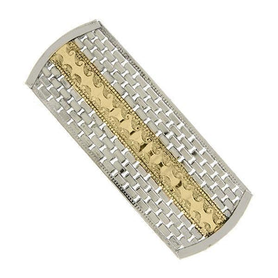 Silver-Tone and Gold-Tone Filigree Hair Barrette
