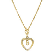 Silver Tone Live Love Rescue Open Heart Toggle Necklace 18