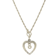 Live Love Rescue Open Heart Toggle Necklace 18 In