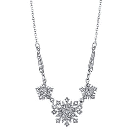Fashion Jewelry - Downton Abbey Boxed Silver-Tone Crystal Starburst Necklace