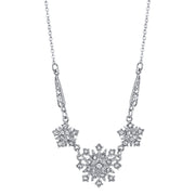 Downton Abbey Gold Tone Crystal Belle Epoch Starburst Statement Necklace 16 - 19 Inch Adjustable