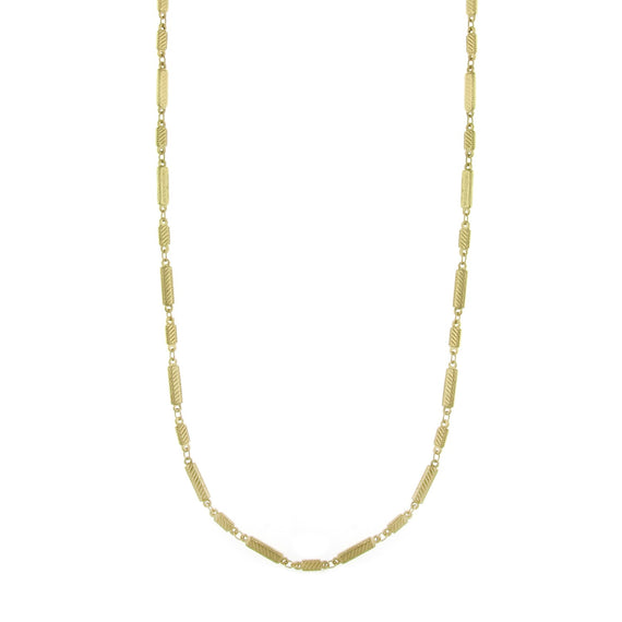 Fashion Jewelry - Downton Abbey Gold Tone Rectangle Chain Opera Necklace