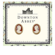 Gold Tone Cameo Stud Earrings