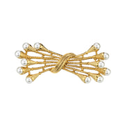 Gold Tone Costume Pearl Pin