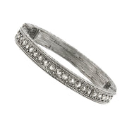 Downton Abbey Thin Multi Crystal Stretch Bracelet