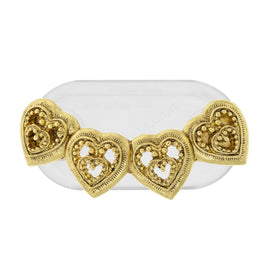 Magcessory 14K Gold Dipped Hearts Magnetic Eyeglass Holder Brooch, Scarf Pin, Cardigan Closure Set