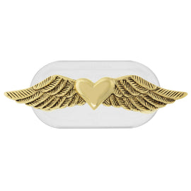 Magcessory 14K Gold Dipped Heart with Wings Magnetic Eyeglass Holder Brooch, Scarf Pin, Cardigan Closure Set