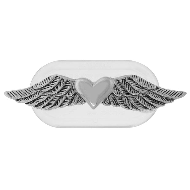 Magcessory Pewter Heart With Wings Magnetic Eyeglass Holder