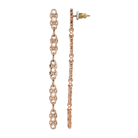 Rose Gold Tone Linear Chain Earring