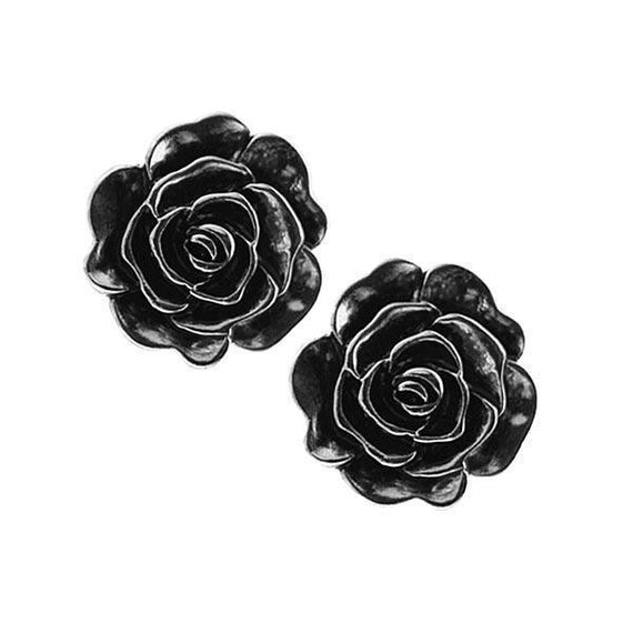 SilverTone Flower Stud Earrings