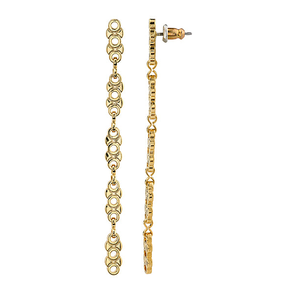 14k Gold Dipped Linear Chain Earring