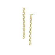 Modern Linear Cable Chain Earrings