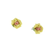 Sweet Rose Porcelain Rose Stud Earrings IVORY