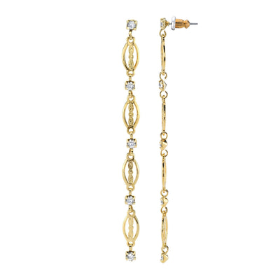 Modern Crystal Linear Drop Earring