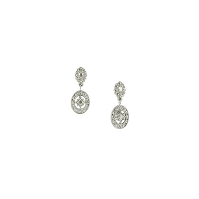 Silver-Tone Drop Earrings