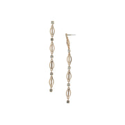 Modern Crystal Linear Drop Earring Rose Gold
