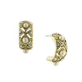 Gold-Tone and Cultura Pearl Earrings