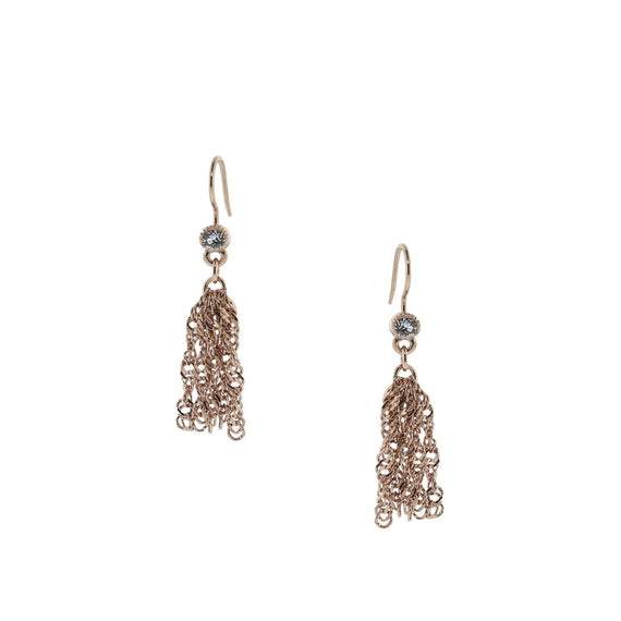 Rose Gold Tone Tassel Earring 1928 Vintage Inspired Fashion Jewelry