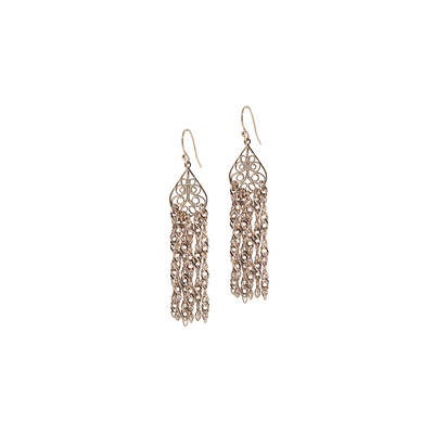 Rose Gold Tone  Drop Tassel Earring